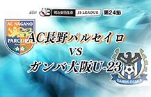 サッカーJ3「AC長野パルセイロ×ガンバ大阪U-23」