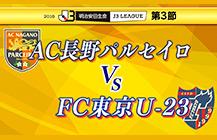 サッカーJ3 AC長野パルセイロ×FC東京U23