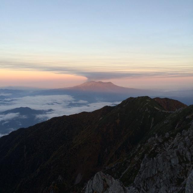 御嶽山(標高3067m)