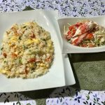 「カニチャーハン・カニとキャベツのサラダ」2018年7月7日放送