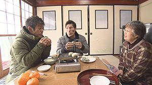 米粉を使った郷土料理「あんぼ」|篠原信一と三四六の雪山合宿in秋山郷!
