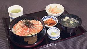 安曇野市 小柴屋 サ-モン丼|愛され続けて50年!半世紀食堂②
