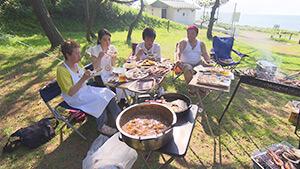 大潟キャンプ場 BBQ|麗子センセーと行く!夏を満喫する上越キャンプの旅