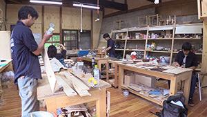 もっと!信州77「上松町編」|AGEMATSU WOOD LIFE MAKING 木工所内