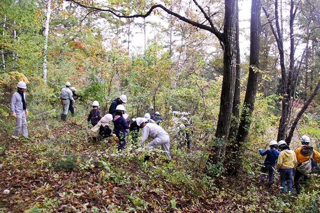「森林の里親促進事業」契約記念式典&除伐