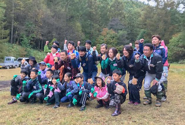 「森林(もり)の里親促進事業」青木村で除伐活動