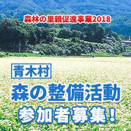 「森林の里親促進事業2018」青木村 森の整備活動参加者募集!