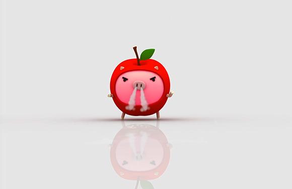 りんご丸ムービー (むにゅむにゅ編)