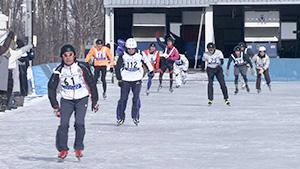 氷雪の果てのゴールへ! 第27回氷上 トライアスロン小海大会