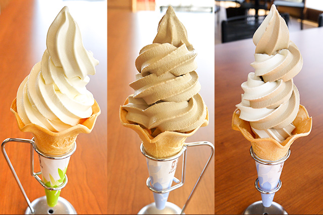 ソフトクリーム(ミルク・モカ・ミックス) | Cafe駅前テラス