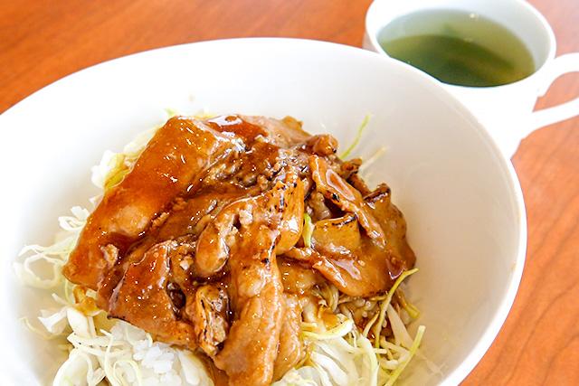 三元豚丼 | Cafe駅前テラス