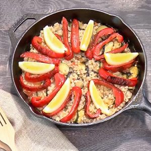 夏野菜のフライパンパエリア(8月9日 水曜 よる6時55分放送)