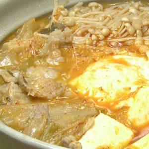 豆腐と豚肉の七味キムチ鍋(11月7日 水曜 よる6時55分)