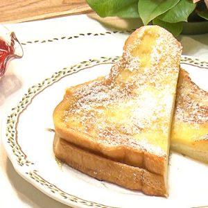 クリームチーズサンドのフレンチトースト(3月6日 水曜 よる6時55分)